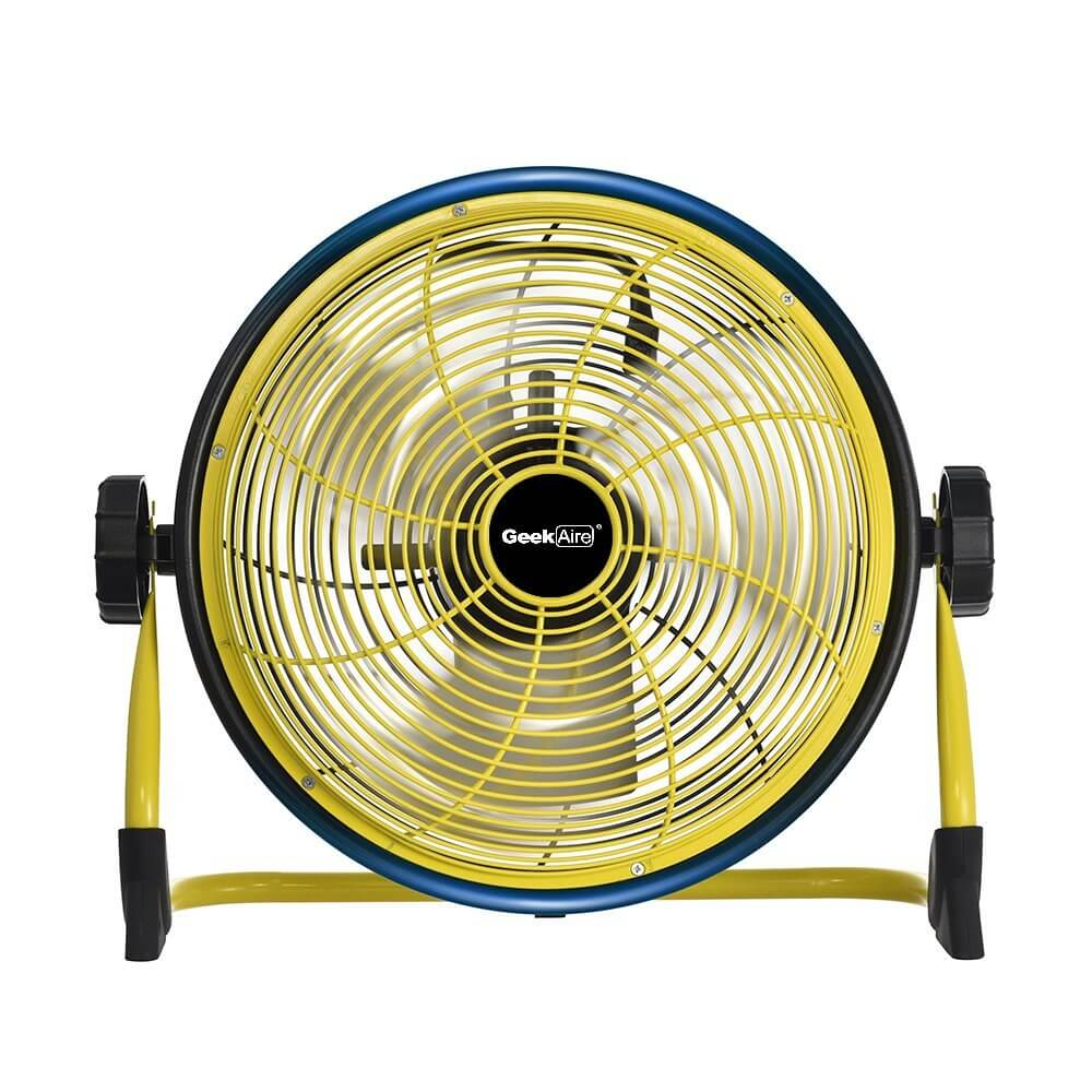 Exterior High Volume Fan : Geek aire rechargeable outdoor high velocity fan cordless